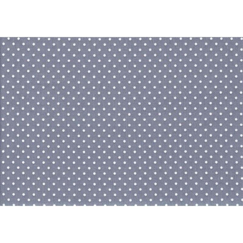 140cm Baumwolldruck Punkte,beige auf grau