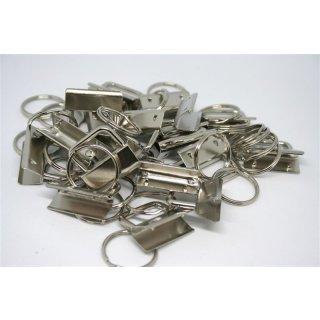 10er Pack Schlüsselbandrohlinge 30mm Silber