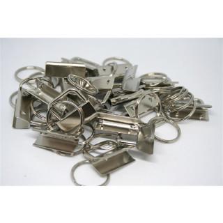 10er Pack Schlüsselbandrohlinge 25mm Silber
