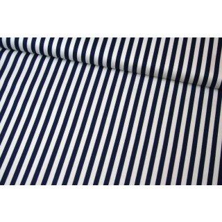 "Stripe Navy 1/4 ""  Basic Blau Weiß Streifen  Stripes"