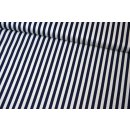 """Stripe Navy 1/4 """"  Basic Blau Weiß Streifen..."""