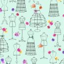 Amour de Fleur Nähen Sewing Mannequins Aqua...