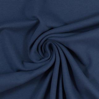 Bündchen Strickschlauch Heike Glatt Jeansblau Blau