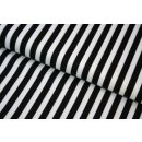 Retro Basic Schwarz Weiß Streifen 9mm Stripes