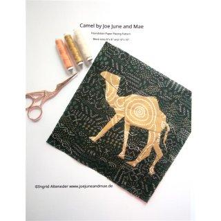 Kamel Camel Pattern Tutorial Schnittmuster FPP  by Joe June and Mae