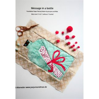 Message in a Bottle Pattern Tutorial Schnittmuster FPP  by Joe June and Mae