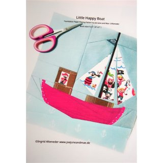 Little Happy Boat Pattern Tutorial Schnittmuster FPP  by Joe June and Mae