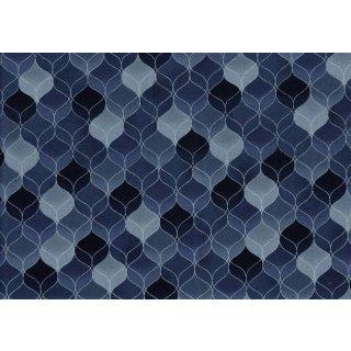 Weihnachten Christmas Wonders Blau Silber Wellen 603