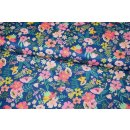 Floral Pets Blumen Blend Fabrics Navy Gardenara Mia Charro 129.101.3