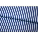 Retro Basic Streifen 6mm 1/4 Blau Blau Sharktown Stripes
