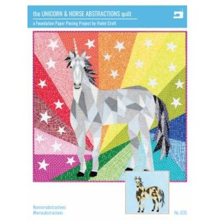 The Unicorn & Horse Abstractions Quilt - Violet Craft FPP