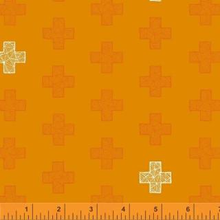 Good Vibes Only Sassafras Lane Design Shayla Wolf  51102-6 Tangerine Manderine