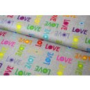 Shine Bright  Letters Love Rainbow Grau Unicorn