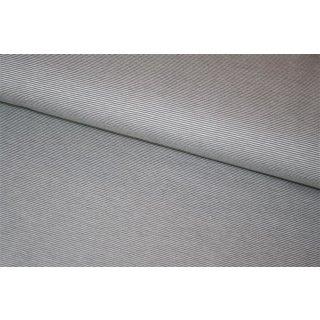 Jersey Basic Bella Grau/Grau 1mm Streifen