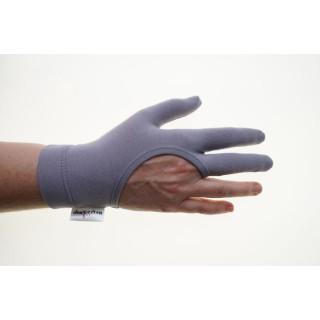 Regi´s Grip  Drei Finger Quilthandschuhe Uni Grau Quilt Handschuhe Quiltgloves