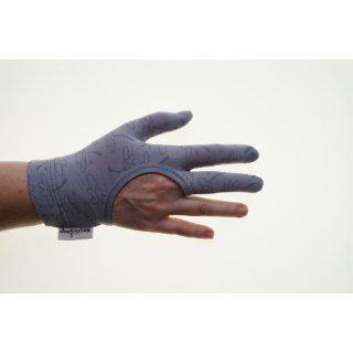Regi´s Grip Drei Finger Quilthandschuhe Blümchen Grau Handschuhe Quiltgloves