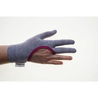 Regi´s Grip Drei Finger Quilthandschuhe Blümchen Pink Handschuhe Quiltgloves