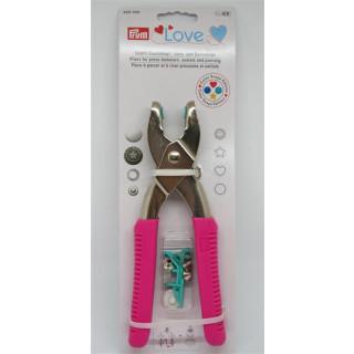 PRYM  LOVE  Vario Druckknopf-, Loch- und Ösenzange Pink Color Snaps Edition