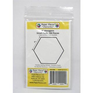 "Papierschablonen Hexie 1"" Paper Pieces 100 Stück Hexagon"