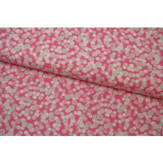 Penny Rose Fabrics Restposten Hope Chest Pink Circles
