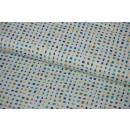 Zentastic White-Blues Confetti mit Gold  Tükis Blau