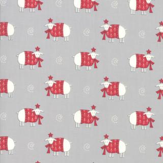 Weihnachten Country Christmas Schafe Grau Rot