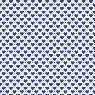 Basic Herzen Weiß Blau Tiled Up