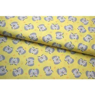 Jungle Jamboree Yellow Baby Elephants Elefanten Grau Gelb
