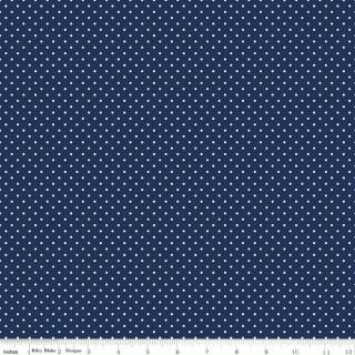 Swiss Dot Navy Blau Punkte