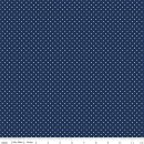 Swiss Dot Navy Blau Punkte