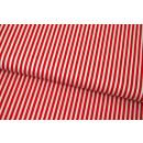 Retro Basic Rot Weiß Streifen 3mm Stripes