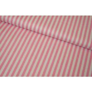 """Retro Basic Streifen 6mm 1/4"""" Weiß Rosa Baby Pink Stripes"""