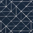 Baumwolldruckstoff Geometrische Linen Dunkelblau