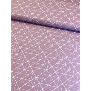Baumwolldruckstoff Geometrische Linen Altrosa