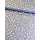 Baumwolldruckstoff Geometrische Linen Grau