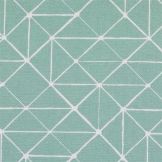 Baumwolldruckstoff Geometrische Linen Mint