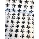 Sweat French Terry Sterne Stars Weiß Schwarz