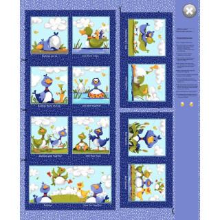 Panel Susybee Bill & Bob Best Buddies Ducks  Storybook Panel  Bilder  90cm Enten