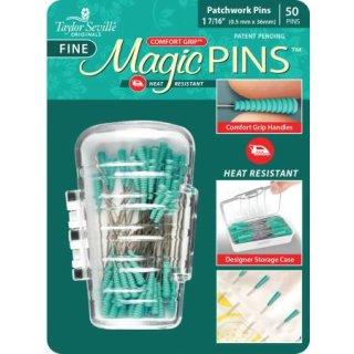Magic Pins Stecknadeln mit Griff Grün Fine Patchwork Pins 50 Stück