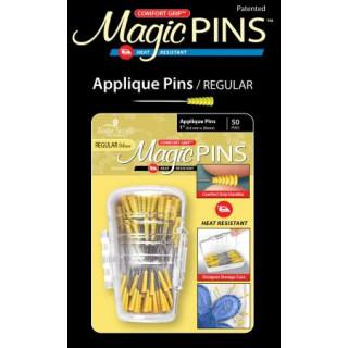Magic Pins Stecknadeln mit Griff Gelb Applique Pins Regular 50 Stück