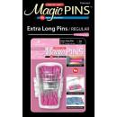 Magic Pins Stecknadeln mit Griff Rosa Extra Long Pins...