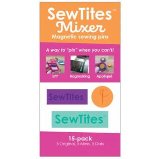 SewTites Dots Magnetic Sewing Pins 15er Pack Orange Grün Lila
