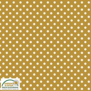 Essential Dots Punkte Gelb Senfgelb 678