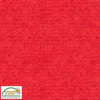 Quilters Coordinates Basic Schrift Rot Red 277