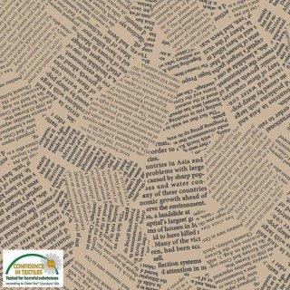 Quilters Combination Basic Schrift Creme Beige 049