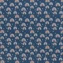 Baumwolldruckstoff Regenbogen Blau