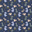 Jersey Baumwolljersey Dinosaurier Blau Grün