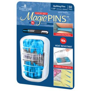 Magic Pins Stecknadeln mit Griff Blau Quilting Pins Regular  50 Stück