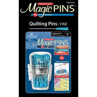 Magic Pins Stecknadeln mit Griff Blau Quilting Pins Fine  50 Stück