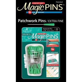 Magic Pins Stecknadeln mit Griff Grün Extra-Fine Patchwork Pins 50 Stück